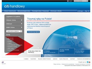 Strona banku Citi Handlowy